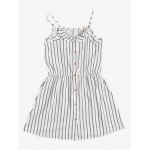 Girls 4-16 Nature Lover Stripe Strappy Midi Dress