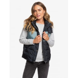 Out Of Focus Hooded Puffer Body Warmer