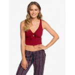 Love Gifts Cropped Rib Knit Tank Top