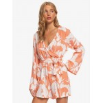 New Morning Air Long Sleeve Wrap Romper