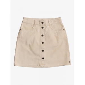 Unforgettable Fall Button Through Corduroy Skirt
