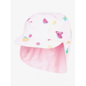 Girls 2-7 Come And Go Reversible Swim Hat With Neck Protection