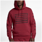 Jordan Retro 11 Hybrid Pullover Hoodie - Mens / Gym Red