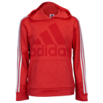 adidas Performance Heather 3-Stripe Hoodie - Boys Grade School