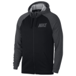 Nike Lightweight Full Zip Fleece Hoodie / Black/Charcoal/Dark Grey | Essential