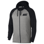Nike Lightweight Full Zip Fleece Hoodie / Dark Grey Heather/Black/Black | Essential