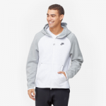 Nike Tech Fleece Full-Zip Hoodie / Birch Heather/Dark Grey Heather/White