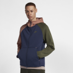 Nike Tech Fleece Full-Zip Hoodie / Midnight Navy/Terra Blush/Cobalt Tint