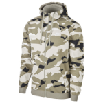 Nike Club Camo Full-Zip Hoodie - Mens / Light Bone/Black