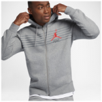 Jordan Flight Graphic Fleece Full-Zip Hoodie - Mens / Carbon Heather/Dark Grey/University Red