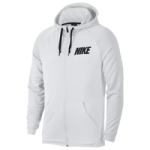 Nike Lightweight Full Zip Fleece Hoodie / White/White/Black | Essential