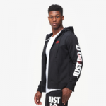Nike JDI Fleece Full-Zip Hoodie - Mens / Black/Black/University Red