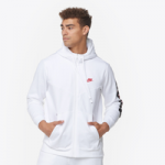 Nike JDI Fleece Full-Zip Hoodie - Mens / White/White/University Red