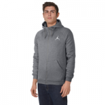 Jordan Jumpman Air Fleece Full-Zip Hoodie - Mens / Carbon Heather/White