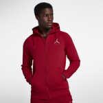 Jordan Jumpman Air Fleece Full-Zip Hoodie / Gym Red/White