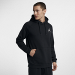 Jordan Jumpman Air Fleece Pullover Hoodie - Mens / Black/White