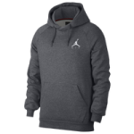 Jordan Jumpman Air Fleece Pullover Hoodie - Mens / Carbon Heather/White