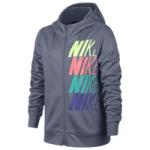 Nike Therma Graphic Full-Zip Hoodie - Girls Grade School