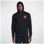 Jordan Retro 3 Flight Fleece Full-Zip Hoodie - Mens / Black/Gym Red/White