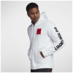 Jordan Retro 3 Flight Fleece Full-Zip Hoodie - Mens / White/Gym Red/Black