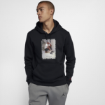 Jordan Retro 3 Flight Fleece Pullover Hoodie - Mens / Black/Gym Red/White