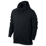 Jordan JSW Wings Fleece Full-Zip Hoodie - Mens / Black/Black