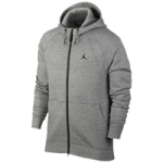 Jordan JSW Wings Fleece Full-Zip Hoodie - Mens / Dark Grey Heather/Black
