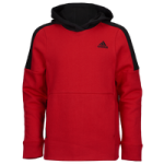 adidas Three-Stripe Cotton Hoodie - Boys Grade School