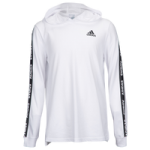 adidas Three-Stripe L/S Hooded Graphic T-Shirt - Boys Grade School