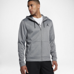 Jordan 23 Alpha Therma Full Zip Hoodie - Mens / Carbon Heather/Black