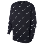 Nike Rally Metallic Clash Print Crew - Womens