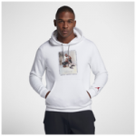 Jordan Retro 3 Flight Fleece Pullover Hoodie - Mens / White/Gym Red/Black
