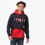 Jordan Jumpman Air Fleece Pullover Hoodie - Mens / Black/Gym Red/White