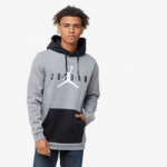 Jordan Jumpman Air Fleece Pullover Hoodie / Carbon Heather/Black/White
