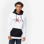 Jordan Jumpman Air Fleece Pullover Hoodie / White/Black/Gym Red