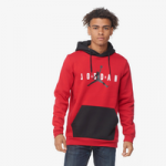 Jordan Jumpman Air Fleece Pullover Hoodie - Mens / Gym Red/Black/Black