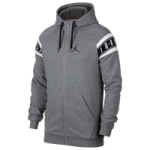 Jordan Jumpman Air HBR Full-Zip Hoodie - Mens / Carbon Heather/Black