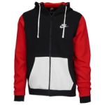 Nike Club Full-Zip Archive Hoodie / Black/University Red