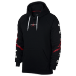 Jordan Jumpman Air HBR Pullover Hoodie - Mens / Black/Gym Red