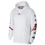 Jordan Jumpman Air HBR Pullover Hoodie - Mens / White/Gym Red