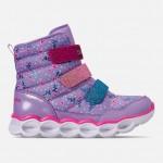 Girls Little Kids Skechers Twinkle Toes: Lumi Luxe Hook-and-Loop Casual Sneakers