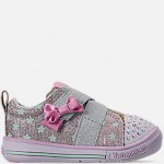 Girls Toddler Skechers Twinkle Toes: Twinkle Play - Sparkle Shines Light Up Hook-and-Loop Casual Shoes
