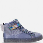 Girls Little Kids Skechers Twinkle Toes: Shuffle Brights - Sparkle Wings Light Up High Top Casual Shoes