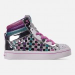 Girls Little Kids Skechers Twinkle Toes: Twi-Lights - Sparkle Status Light Up High Top Casual Shoes
