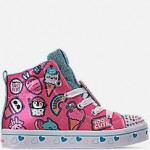 Girls Little Kids Skechers Twinkle Toes: Twi-Lights - Character Sweets Light Up High Top Casual Shoes