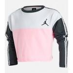 Girls Jordan Taped Crop Crewneck Sweatshirt