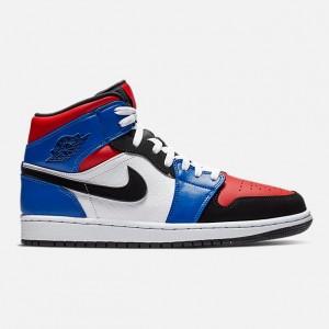 Mens Air Jordan 1 Mid Retro Basketball Shoes