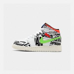 Big Kids Air Jordan 1 Mid Basketball Shoes
