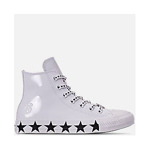 Womens Converse x Miley Cyrus Chuck Taylor High Top Casual Shoes