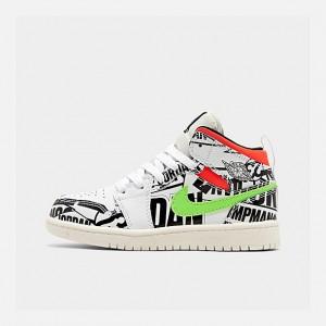 Little Kids Air Jordan 1 Mid Basketball Shoes